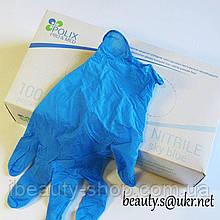 Рукавички нітрилові мед. нестер. текстур. неприпудр. Polix PRO&MED 100 шт/уп.ISE BLUE,розмір XS