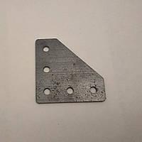 Пластина з'єднувальна, кутова для профілю 20, стальна (угловой соединитель)