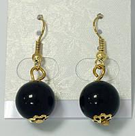 Серьги-шарики черные