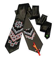 """Атласный галстук с вышивкой """"Чернин"""""""