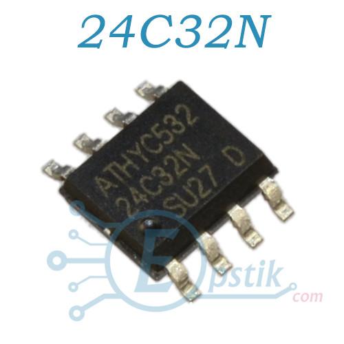 AT24C32, память энергонезависимая, 32 Кбит, EEPROM, SOP8
