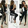 Костюм женский, стильный, цвет черный, 510A-040