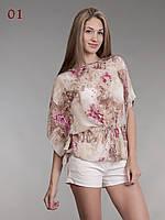 Летняя блузка шифон 01 , фото 1
