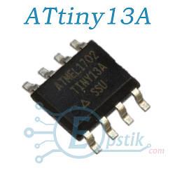 ATtiny13A, 8 бітний мікроконтролер, SOP8