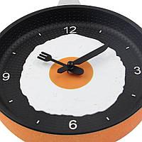 """Часы сковорода """"Яичница"""" на кухню / Оранжевые, фото 1"""