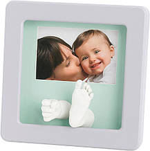 Рамка для фото и детских слепков с набором для их изготовления Photo Sculpture Frame taupe Baby Art
