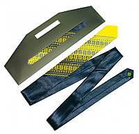 Атласный галстук с вышивкой «Сине-желтый дуэт (узкий)», фото 1