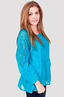 Легкая женская блуза свободного кроя из хлопка