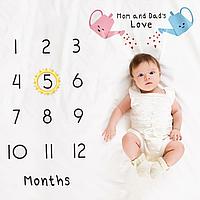 Фотопеленка для первых фотосессий малыша. Фотофон для новорожденного Расти большой
