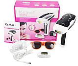 Фотоэпилятор Kemei Km 6812 лазерный эпилятор для лица и тела со съёмными картриджами, фото 4