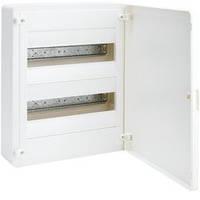 Щит распределительный с белой дверцей, 24 модуля(2х12), GOLF Hager (VS212PD)