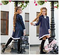 Красивое школьное платье с съемной брошью. 2 цвета!, фото 1