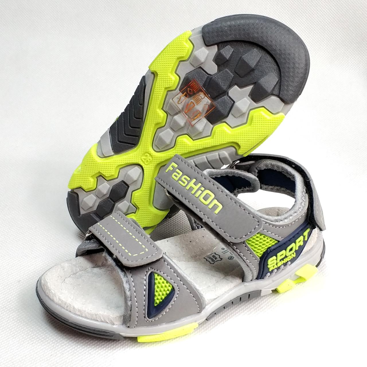 Босоножки, сандалии для мальчика серые Tom.m