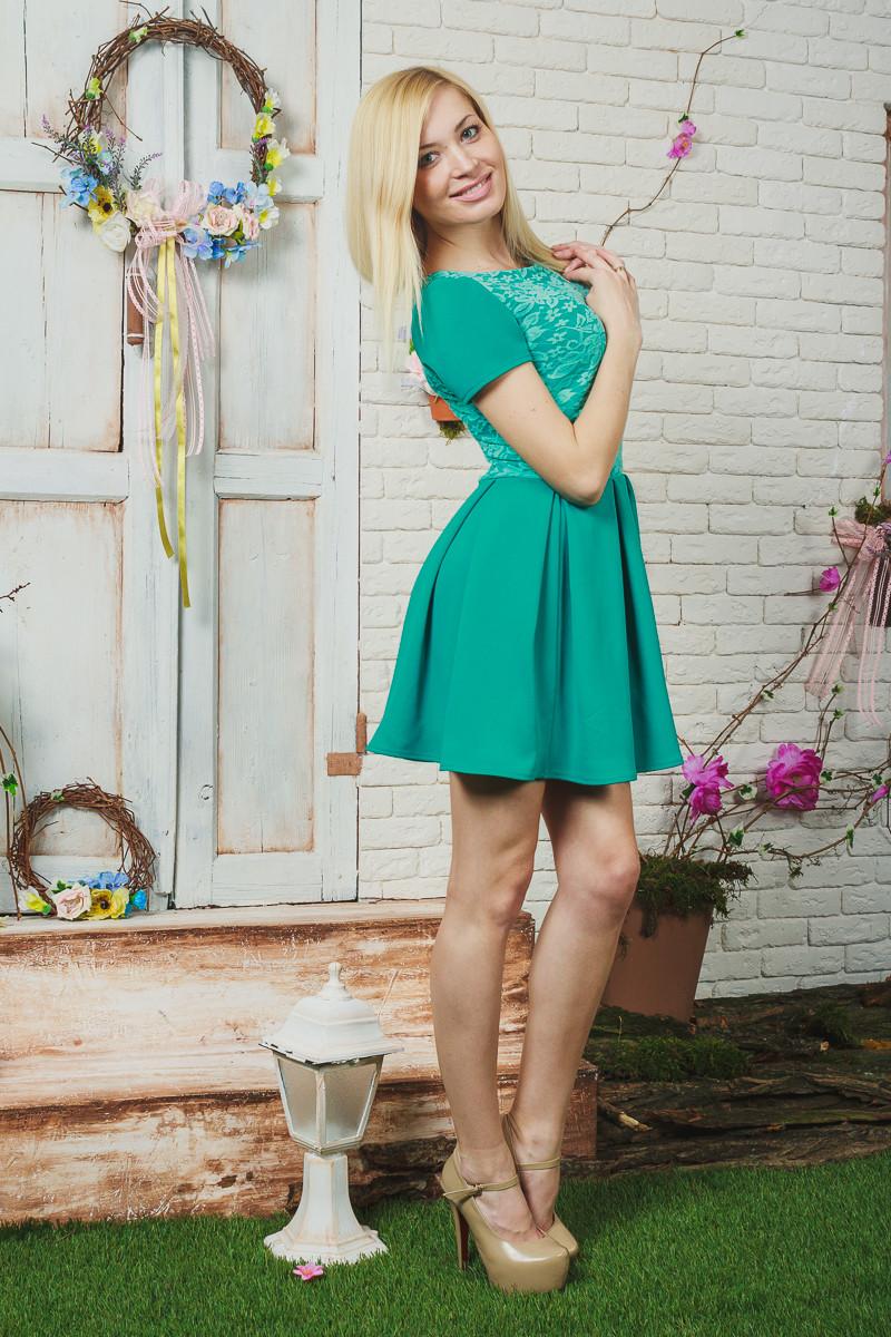Платье женское короткое мята