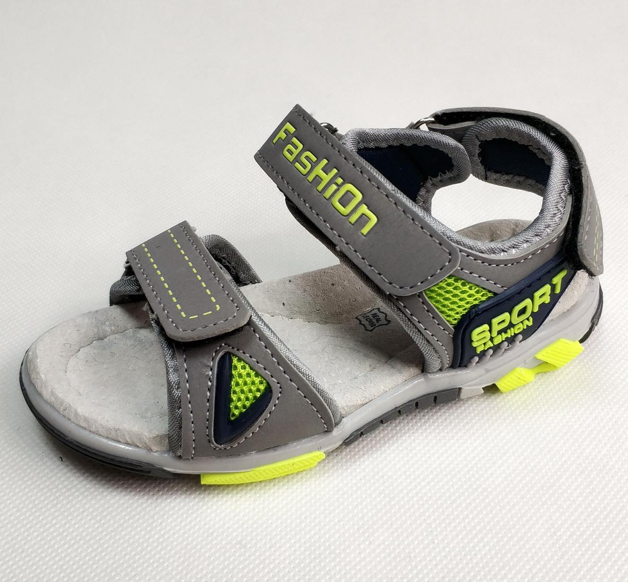 Детские босоножки сандалии для мальчика серые Tom.m 30р.