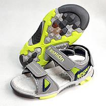 Детские босоножки сандалии для мальчика серые Tom.m 30р., фото 2