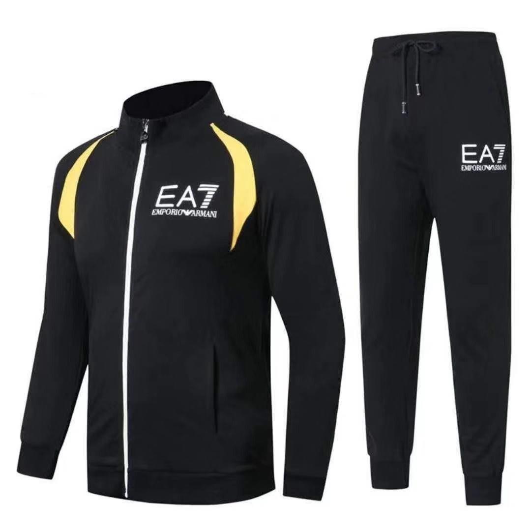 Спортивный костюм EA7 Emporio Armani Athletic Cotton Tracksuit XXL Чёрный (88267)