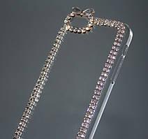 Чехол для iPhone 5C прозрачный с кристаллами