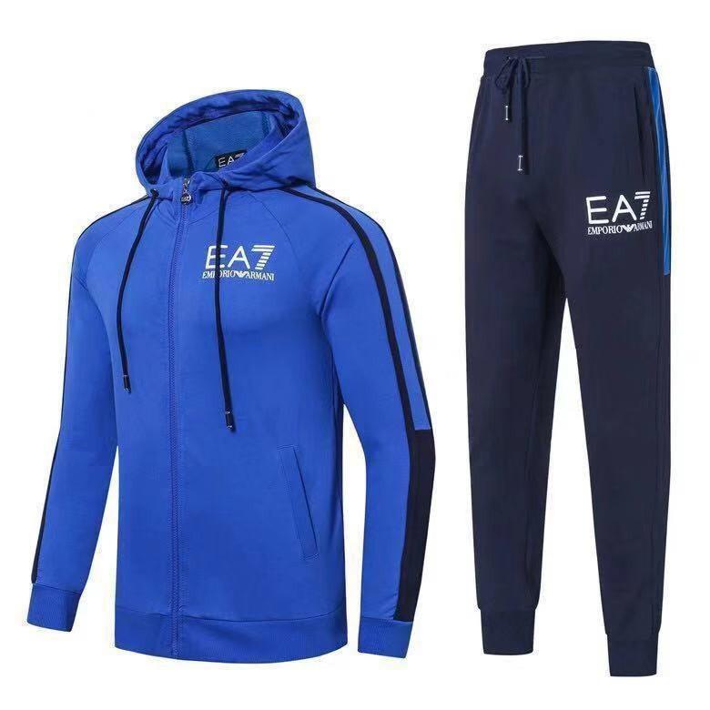 Спортивный костюм EA7 Emporio Armani Athletic Cotton Tracksuit L Синий (88587)