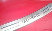 Накладка на задний бампер для Ford Mondeo 3, Форд Мондео 3 2000-2006 г.в.