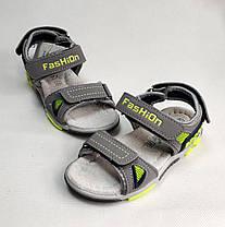 Детские босоножки сандалии для мальчика серые Tom.m 31р., фото 2