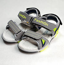 Детские босоножки сандалии для мальчика серые Tom.m 31р., фото 3
