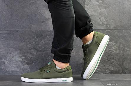 Мужские кроссовки Lacoste,текстиль, темно зеленые, фото 2