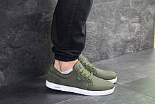 Мужские кроссовки Lacoste,текстиль, темно зеленые, фото 3