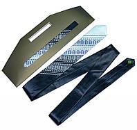 Атласный галстук с вышивкой «Сине-голубой дуэт (узкий)», фото 1