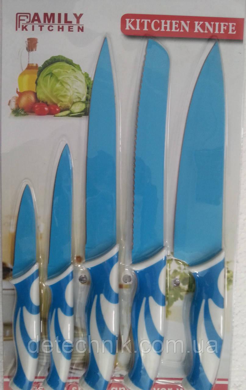 Набор металлических  ножей Family Kitchen B1019 5pcs, фото 1
