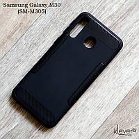 Ультратонкий силиконовый чехол для Samsung Galaxy M30 (SM-M305) (черный)
