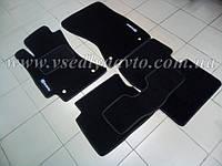 Ворсовые коврики в салон Subaru Forester с 2008-2012 гг. (Черные)