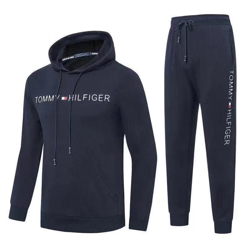 Спортивный костюм Tommy Hilfiger Cotton XXL Тёмно-синий (88793)