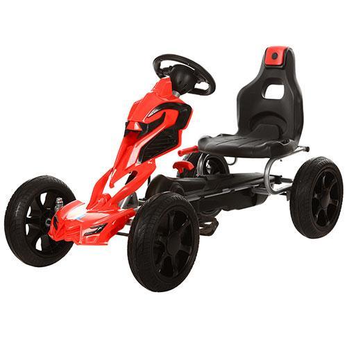 Детский Карт 1504-2-3 колеса Eva Черно-красный Гарантия качества Быстрая доставка