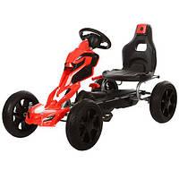Детский Карт 1504-2-3 колеса Eva Черно-красный Гарантия качества Быстрая доставка, фото 1