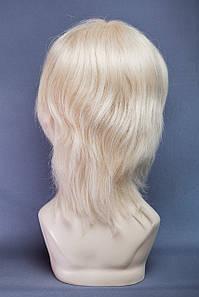 Натуральный парик №13. Цвет мелирование пшеничный с белым