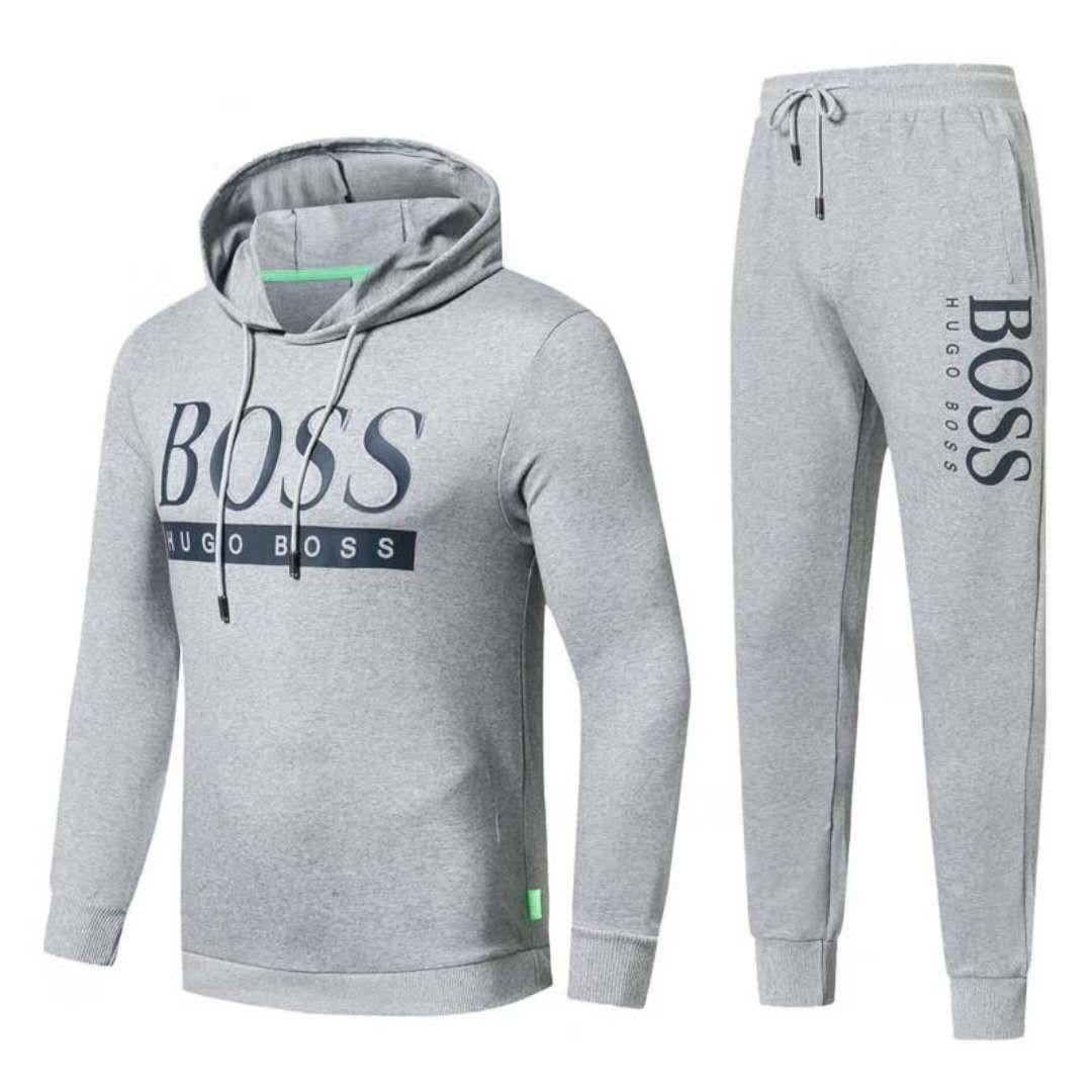Спортивный костюм Hugo Boss Cotton XL Cерый (88218)
