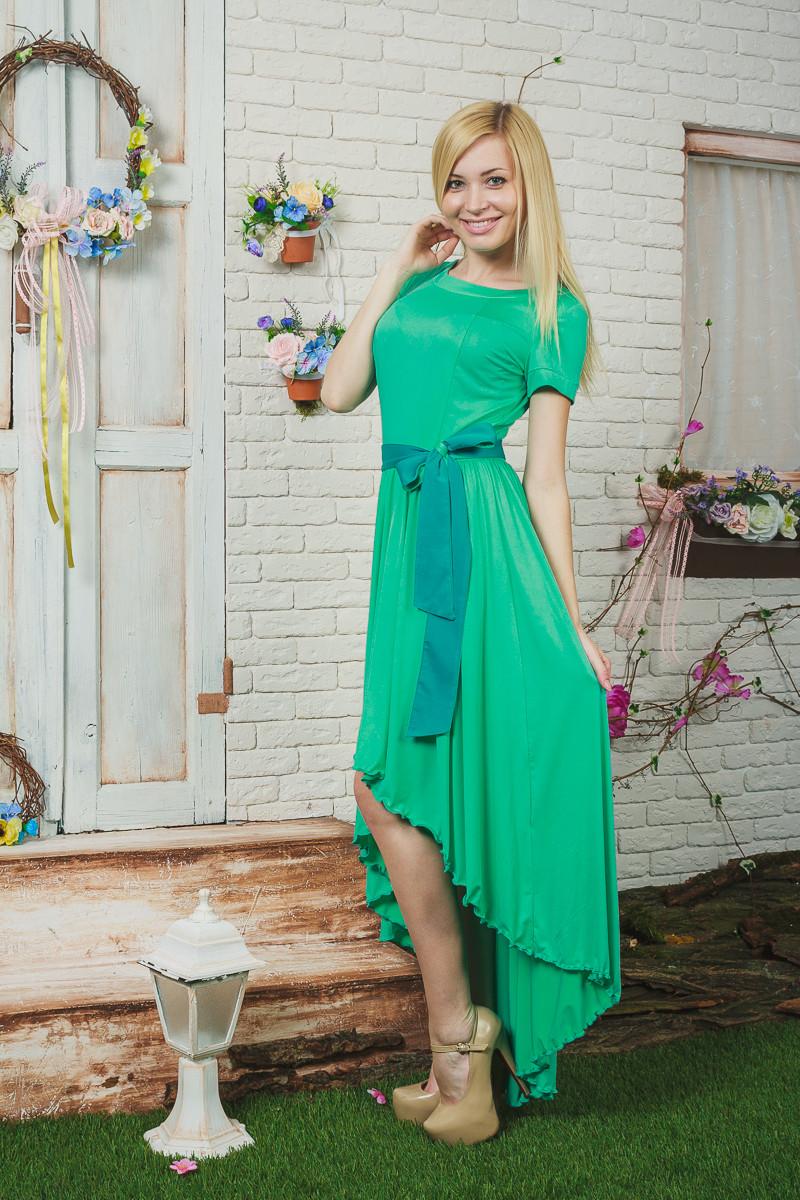 Женское летнее платье мята
