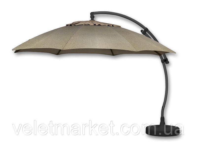 Зонт Crystal  375 см бежевый с освещением