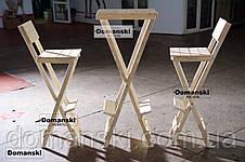 Набор кофейный столик и два стула, раскладной. Барный стол складной, стул складной. Цена за комплект., фото 2
