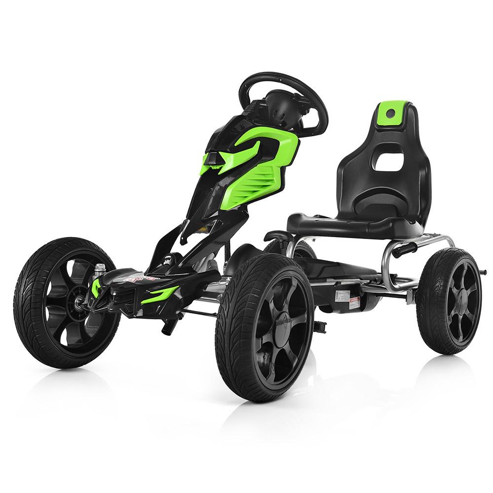 Детский Карт 1504-2-5 колеса Eva Черно-зеленый Гарантия качества Быстрая доставка