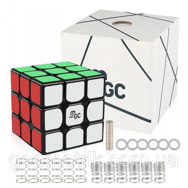 Кубик Рубика 3х3 MGC (Magnetic) чёрный MoYu