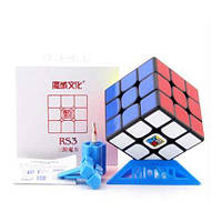 Кубик Рубика 3x3 MoYu MF3 RS3 (подставка, отвёртка, 2 карточки) (чёрный)