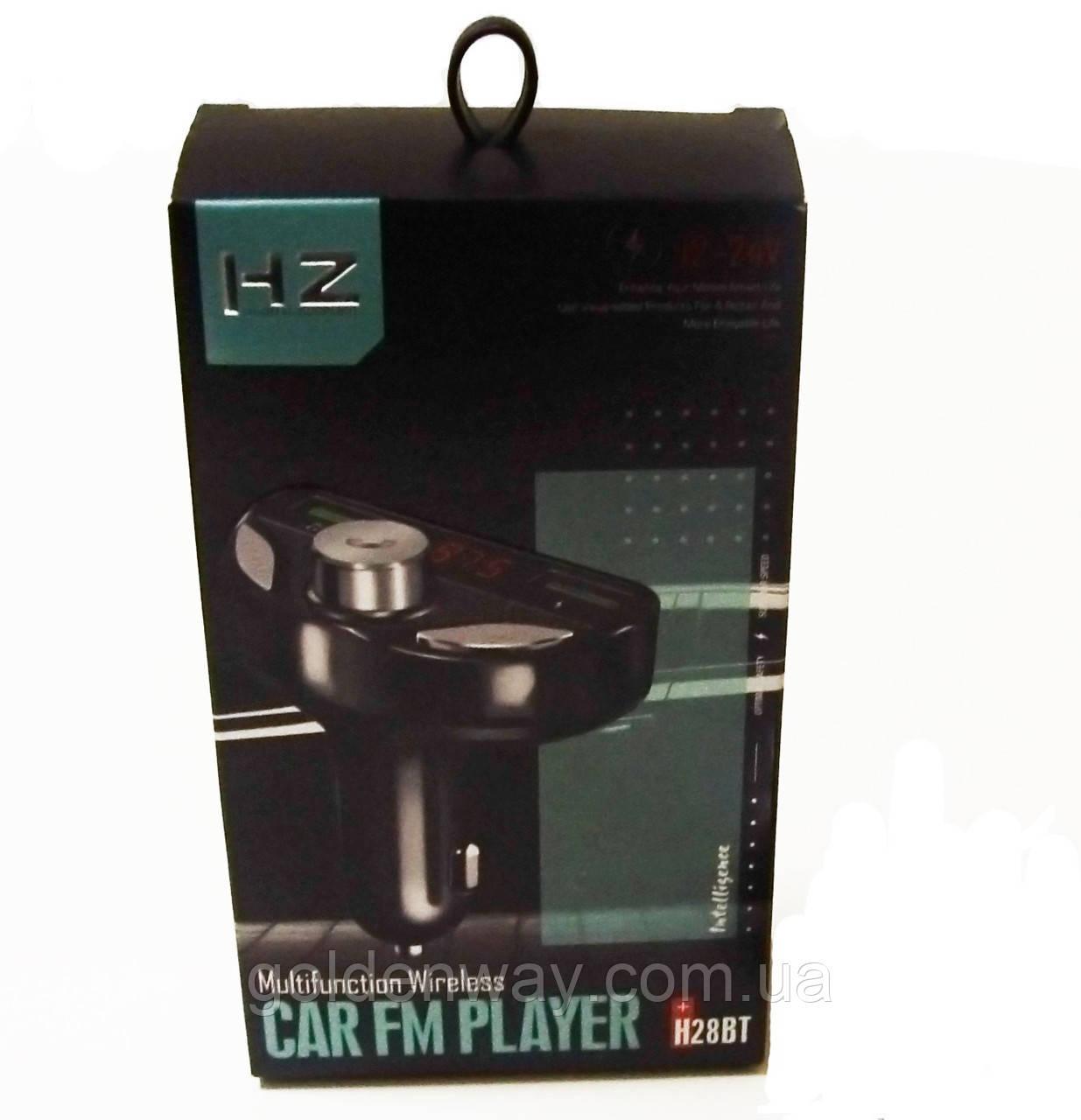 Автомобильный FM трансмиттер модулятор MOD. HZ H28BT  Modulator Bluetooth музыка MP3 с USB
