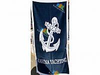 Полотенце Пляжное Махровое Велюровое Морское Яхтинг 75X150