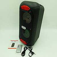 """Акустическая система аккумуляторная беспроводная Bluetooth колонка 2*5"""" радио USB FM 10 Вт Lige A52"""