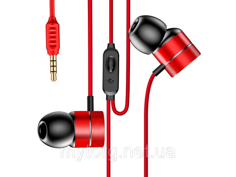 Гарнитура Baseus H04 с микрофоном  Красный