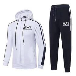 Спортивный костюм EA7 Emporio Armani Athletic Tracksuit XL Белый с чёрным (88588)