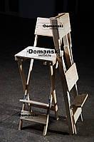 Для кофейни. Стул для визажиста складной. Барный складной высокий стул.
