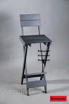 Для кофейни. Стул для визажиста складной. Барный складной высокий стул., фото 2